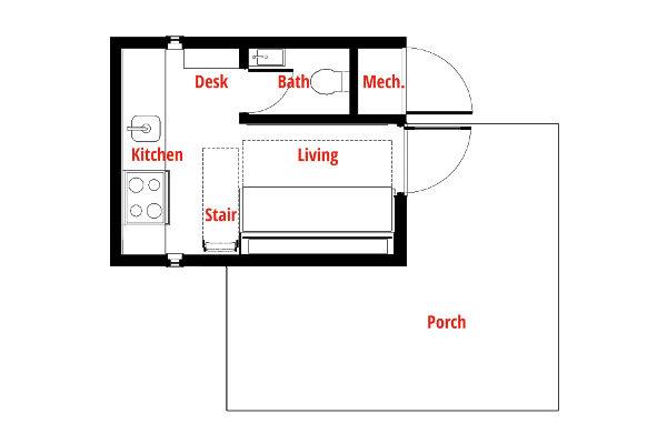 Reset House floor plan