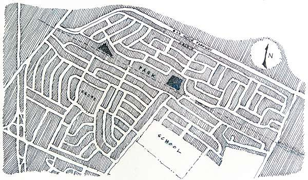 Initial plan of Levittown, NY