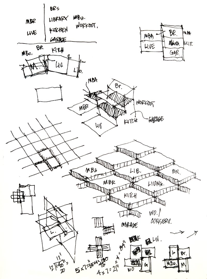 house space diagram