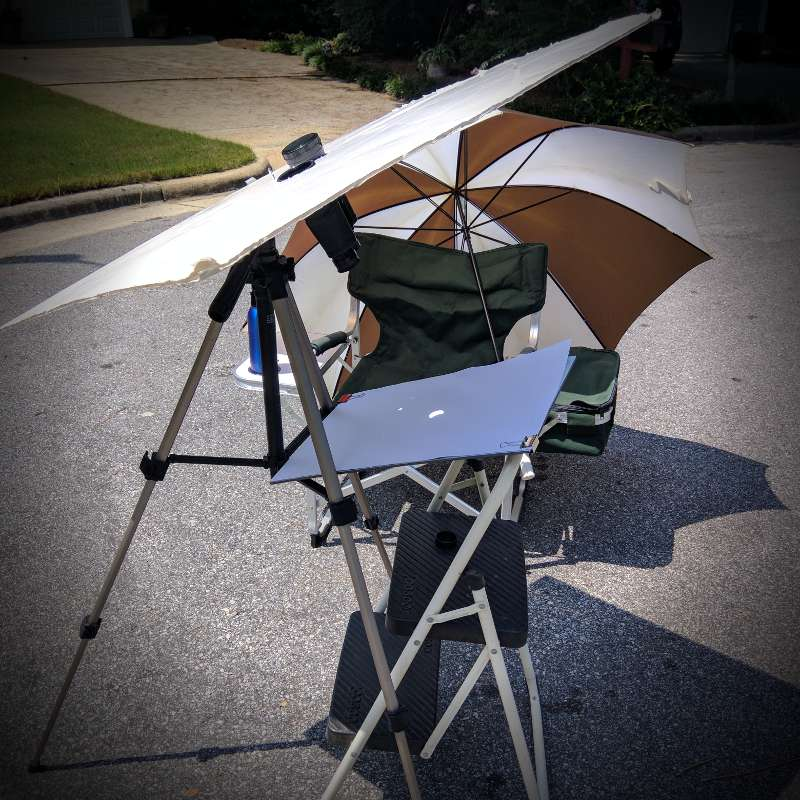 Solar eclipse photography setup