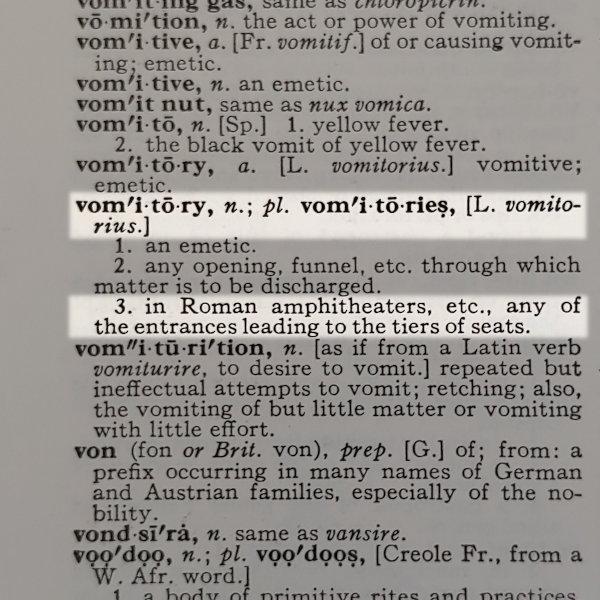 Definition: vomitory
